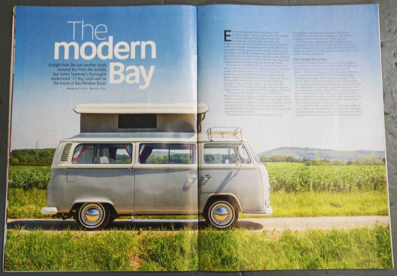 Subaru Build Your Own >> James Sweeney's Modernised 1972 Bay Window Bus – The Story ...